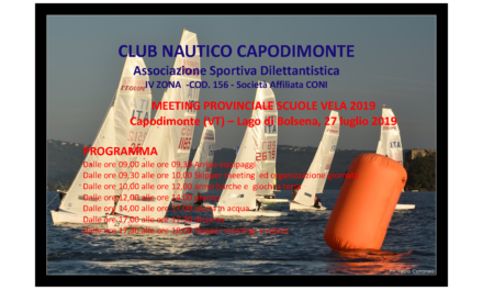 Meeting Provinciale Scuola Vela<br>Capodimonte (VT)<br>27 luglio 2019